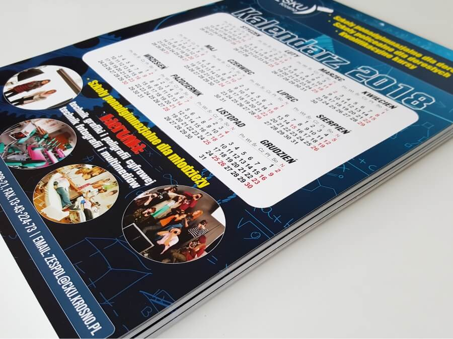 Druk cyfrowy - Kalendarze A4